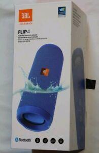 JBL Flip 4 Waterproof Portable Bluetooth Speaker (blue)   ---  in RETAIL BOX