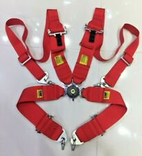 """Universal Red 4 Point Camlock Quick Release Racing Seat Belt Harness For OMP 3"""""""