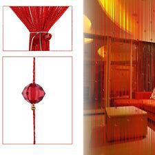String Door Curtain Bead Room Divider Window Panel Tassel Crystal Fringe Valance