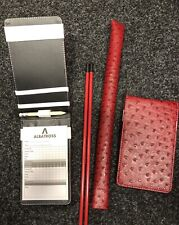 Ostrich Tour Issue Scorecard Holder - Alignment Stick Cover Plus 2 Free Sticks