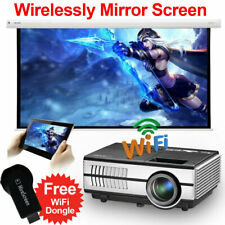 New listing 3000lms Mini Hd Projector Free WiFi Dongle Airply Wireless Mirror Screen for iOs