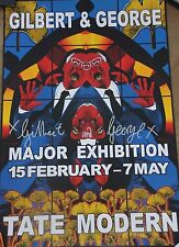 GILBERT & GEORGE Affiche signée poster Major exhibition Tate Modern *