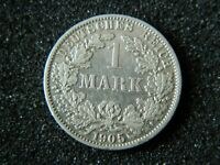 1 MARK 1905 A - Genuine Germany Empire - KM# 14 Silver coin- #7373