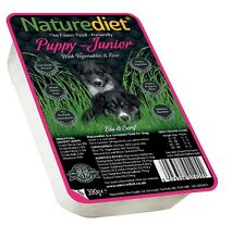 NATUREDIET PUPPY Junior Dog Food x36 Trays Complete Dog Food Quality Feed Sachet