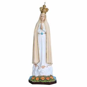 Statua della Madonna di Fatima in resina con occhi dipinti 65 cm