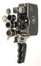 Bolex Paillard D-8L 8mm Film Cine Movie Camera Yvar 1:2.8 f=36mm 1:1.9 f=18mm