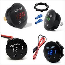 DC 12V Car Van Boat LED Digital Voltage Meter Gauge Display Voltmeter Waterproof