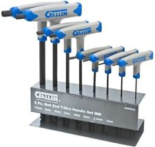 Hex Key Set 8-Piece Allen T-Thru Handle Metric Ball-Plus Steel Storage Rack