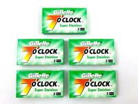 Gillette 7 O`Clock Stainless Double Edge Razor Blades - 25 Blades MADE IN RUSSIA