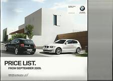 BMW 1 Serie comprese se, es & M SPORT MODELLI LISTINO opuscolo settembre 2009