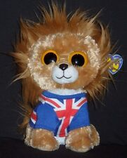 """UK EXCLUSIVE TY BEANIE BOOS – HERO the 9"""" LION (MEDIUM) - MINT with ORIGINAL TAG"""