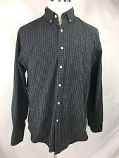 J. Crew Men's Size LARGE Grey Plaid Shirt Long Sleeved Button Down 100% Cotton