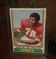 1974 Topps #59 Chiefs HOF Bobby Bell Football Card