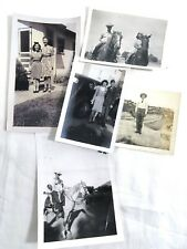 Vintage 1940s Lot 5 Original Photos Pictures Western, horses, Cars, Military #12