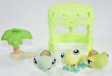 littlest pet shop Turtle Frog Accessory Lot LPS Cute Playset