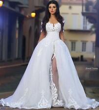2017Neu Abnehmbare Zug Brautkleid Abendkleid Ballkleid Hochzeitskleid Partykleid
