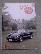 Enjoying MG (July 1991) MGB GT V8 vs E-Type Jaguar, MGA, Maestro Twin Cam, 6R4