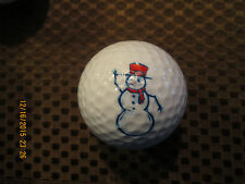 Logo Golf Ball-Snowman.Red Hat.Christmas
