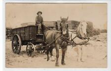 More details for a horse drawn wagon, emerson: wisconsin usa postcard (c39520)