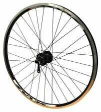 "26"" FRONT Mach MX XC MTB Bike Shimano Hub Disc Wheel Black Rim & Black Spokes"