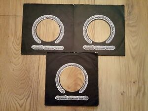 original company record sleeves x3 stiff