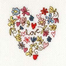 Bothy Threads Cross Stitch Card Kit - Sweet Heart Card