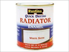 Rustins - Quick Dry Radiator Enamel Paint Satin White 250ml