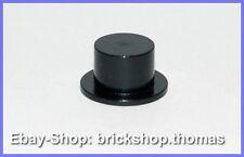 Lego Kopfbedeckung Hut Zylinder schwarz - 3878 - Headgear Hat black - NEU / NEW