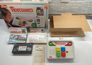 Vintage Connor VIDEO SMARTS Console & 3 VHS Tapes Learning System with Box!!