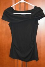 White House Black Market Black Knit Top - XXS NWT