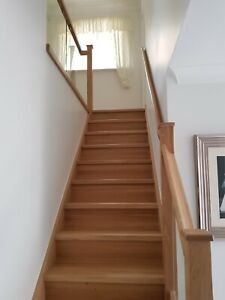 Natural Oak Staircase Steps Cladding System 13 Straight Flight Treads + Risers