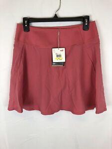 Puma Women's PWRSHAPE Solid Woven Golf Skirt Rose Size Medium
