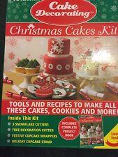 CHRISTMAS CAKE DECORATING  CAKES KIT & COOKIES FOR SANTA KIT- NEW