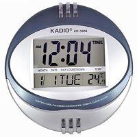 Large Wall Digital Clock LCD Desk Temp Date Alarm 2 Line Display Kadio KD-3806