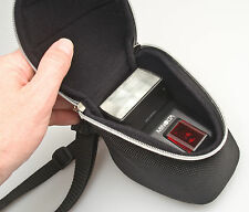 Zip Case w/strap, belt loop, perfect for flash or lens, Konica Minolta brand