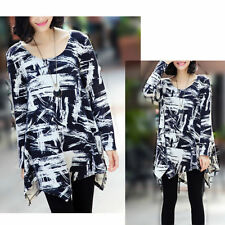 Polyester Long Sleeve Geometric Tops for Women