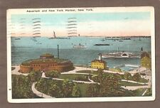 Vintage Postcard 1923 Aquarium & Harbor New York City