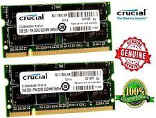 New Crucial Memory Ram 4GB 2x2GB PC2 DDR2 5300S  HP COMPAQ 6820S 6720S IBM T60