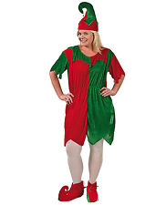Plus Size Elf Santa Helper Dress Costume Adult Womens Holiday Christmas