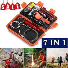 US SOS Outdoor Sport Camping Hiking Survival Emergency Gear Tool Box Kit Set New
