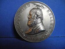 Gottfried Keller Medaille Schweiz Schriftsteller Dichter 1889 Böcklin Orpheus