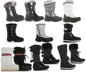 WOMENS LADIES SNOW BOOTS WINTER GRIP SOLE THERMAL WELLIES FUR LINED BOOTS SIZE