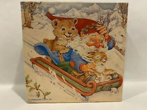 Springbok SLEIGH RIDE 70 Piece Mini Jigsaw Puzzle COMPLETE Snow Christmas Santa