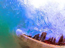 Surf waves surfing beach wave curl photo poster canvas art COA authentic By Andy