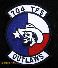 704 TFS OUTLAWS HAT PATCH US AIR FORCE VETERAN PIN UP B24 B29 C110 C130 F4 F16