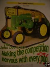 John Deere 60 tractor Green Magazine Sulky Plow