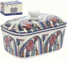 Butter Dish Mackintosh Rose Design with Lid Heavy Porcelain Ceramic Serving Dish