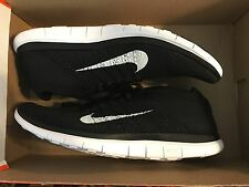 Nike Free Flyknit 4.0 Mens Size 14  Black White Running 631053 001 NO BOX TOP