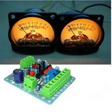 2 PCS AC 10-12V VU Panel Meter 500UA Warm Back Light Recording + Driver Module