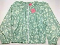 Kate Spade Women's  Splash Windbreaker Anorak Icy Aqua Large NEW WITH TAGS